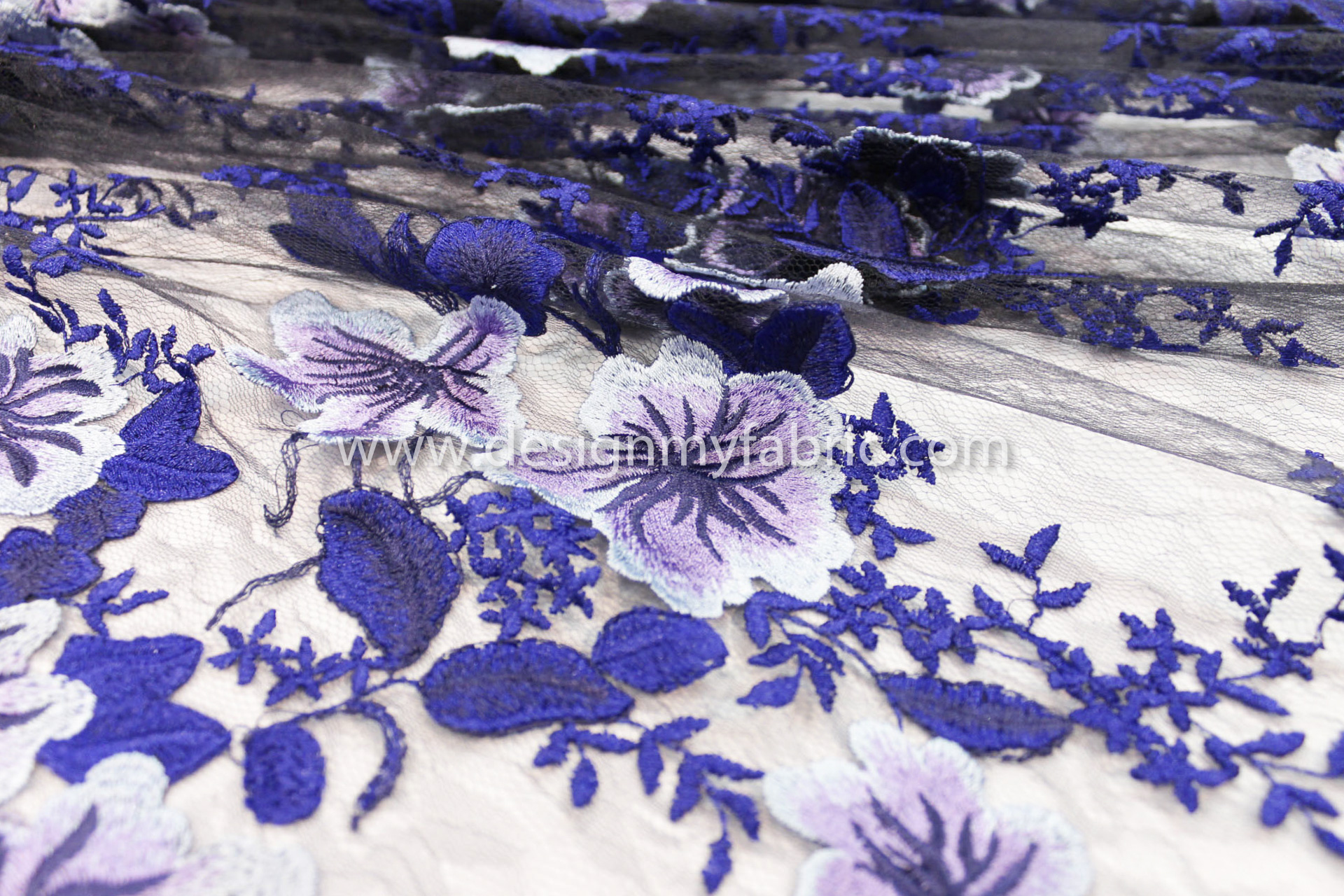 Blue and purple embroidered black lace fabric 80806 design my fabric blue and purple embroidered black lace fabric 80806 izmirmasajfo